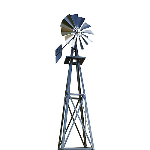 Galvanized Backyard Windmill - Small