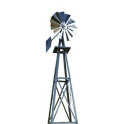 Outdoor Water Solutions Galvanized Backyard Windmill - Small