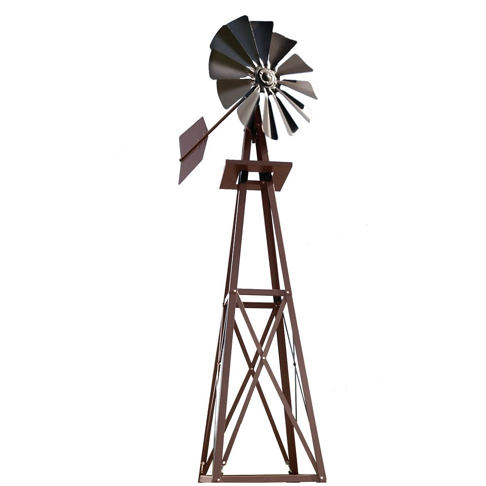 Outdoor Water Solutions Bronze Powder Coated Backyard Windmill - Small