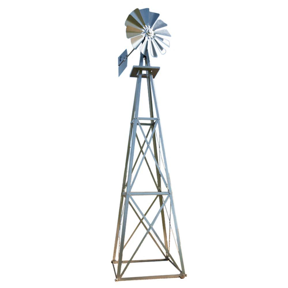 Galvanized Backyard Windmill - Large