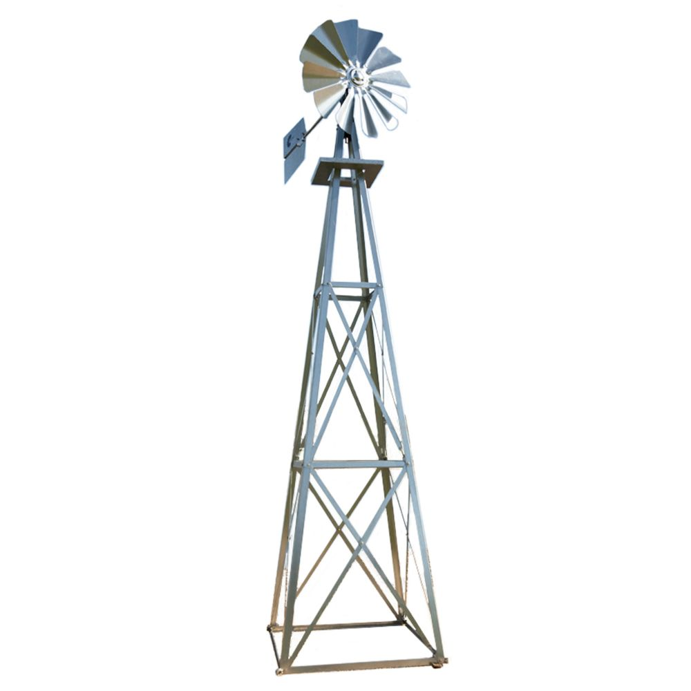 Galvanized Backyard Windmill - Large