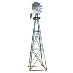 Outdoor Water Solutions Galvanized Backyard Windmill - Large