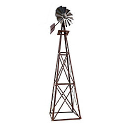 Outdoor Water Solutions Bronze Powder Coated Backyard Windmill - Large