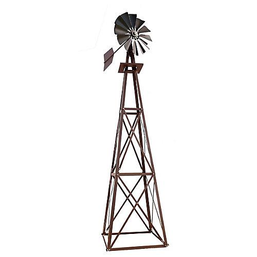 Bronze Powder Coated Backyard Windmill - Large