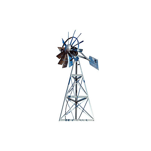 Galvanized 3-Legged Windmill Aeration System - 12 Foot