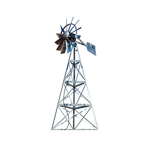 Galvanized 3-Legged Windmill Aeration System - 16 Foot