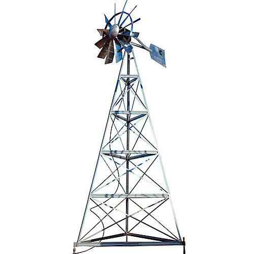 Galvanized 3-Legged Windmill Aeration System - 20 Foot