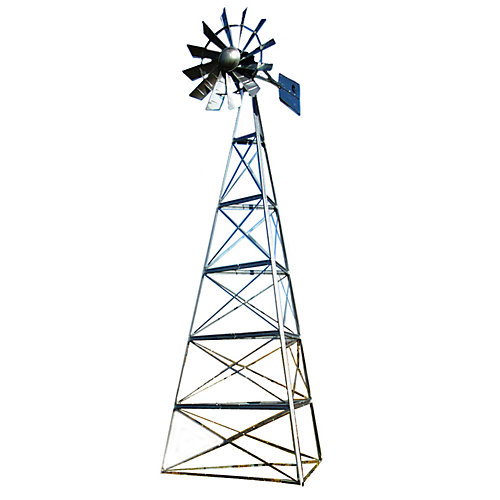 Galvanized 3-Legged Windmill Aeration System - 24 Foot