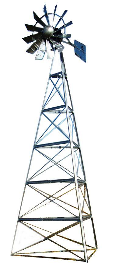 Kit de système daération par éolienne galvanisée deluxe à 3 pattes � 24 pieds