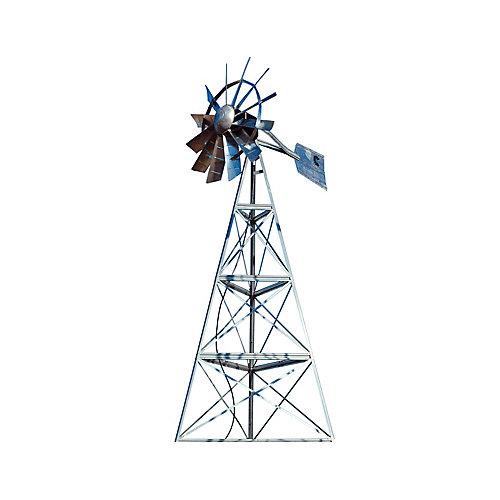 Galvanized Ornamental 3-Legged Windmill - 16 Foot