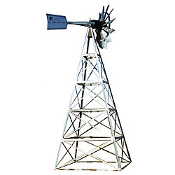 Outdoor Water Solutions Galvanized Deluxe 4-Legged Windmill Aeration System Kit - 20 Foot