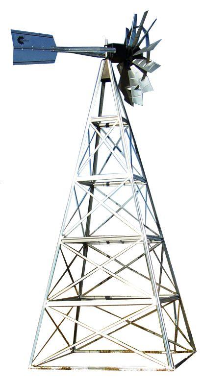 Galvanized Deluxe 4-Legged Windmill Aeration System Kit - 20 Foot