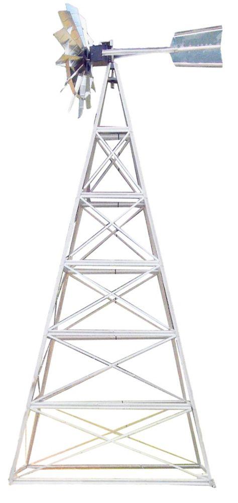 Galvanized Deluxe 4-Legged Windmill Aeration System Kit - 24 Foot