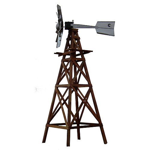 Wooden 4 Legged Windmill Aeration System - 16 Foot