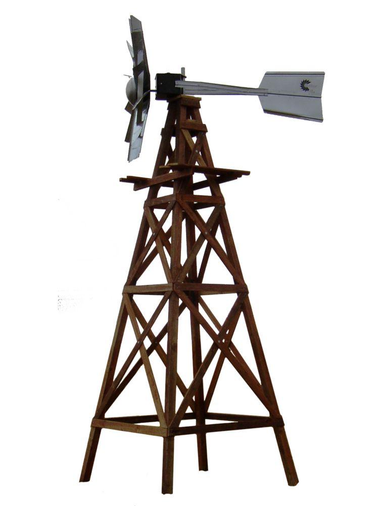 Kit de système daération par éolienne en bois à 4 pattes deluxe -16 pieds