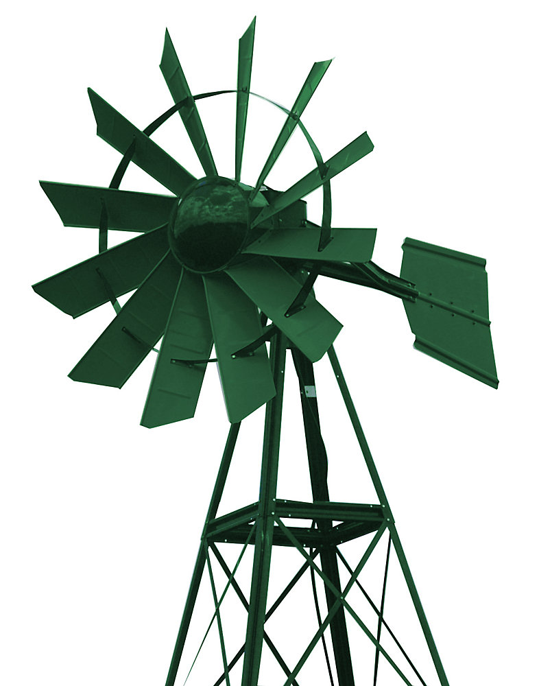 Forest Green Powder Coated Windmill - 20 Foot