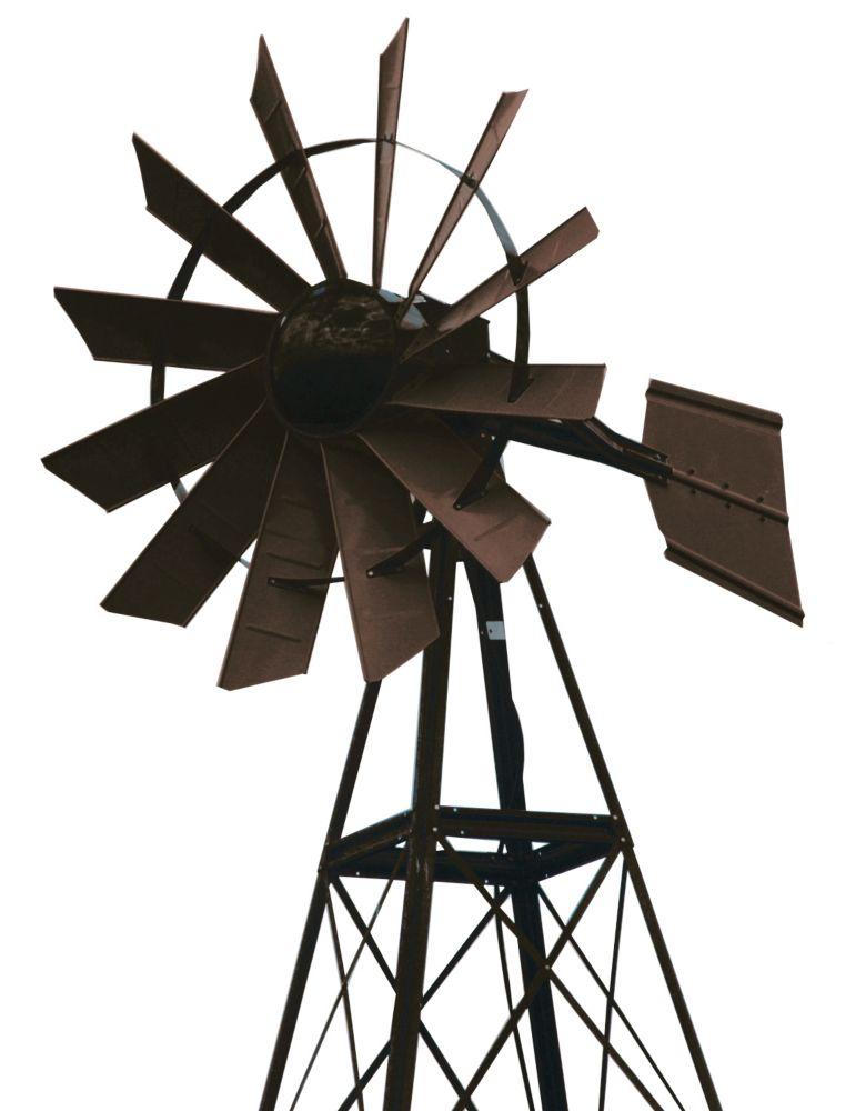 Eolienne recouverte en poudre bronze � 20 pieds