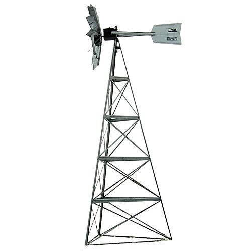 Galvanized Pheasants Forever 3-Legged Windmill - 20 Foot