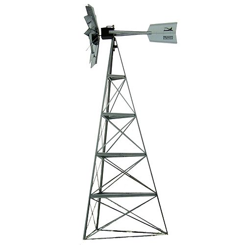 Outdoor Water Solutions Galvanized Pheasants Forever 3-Legged Windmill - 20 Foot