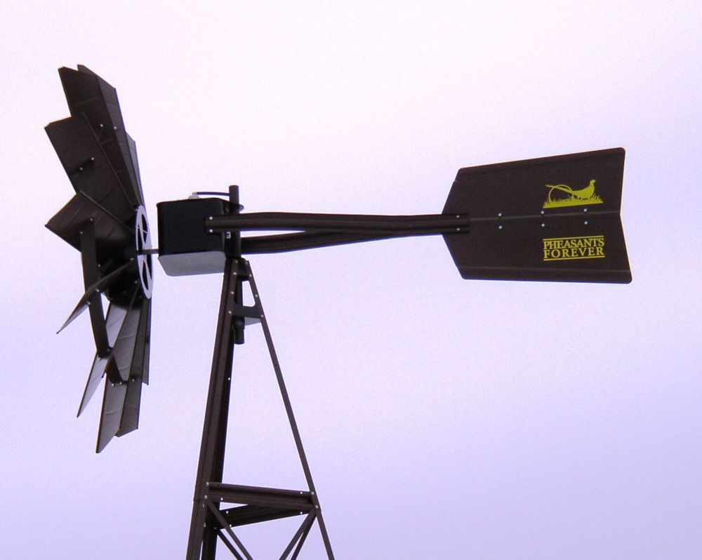 Bronze Pheasants Forever 3-Legged Windmill - 20 Foot
