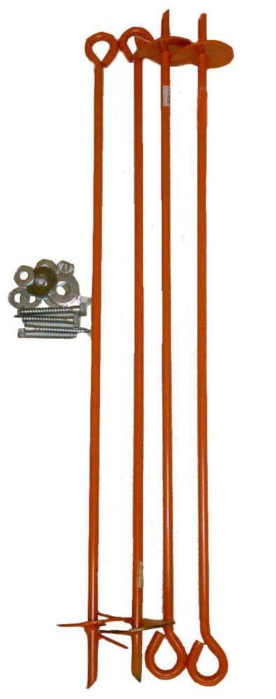 Kit dancrage pour éolienne en bois