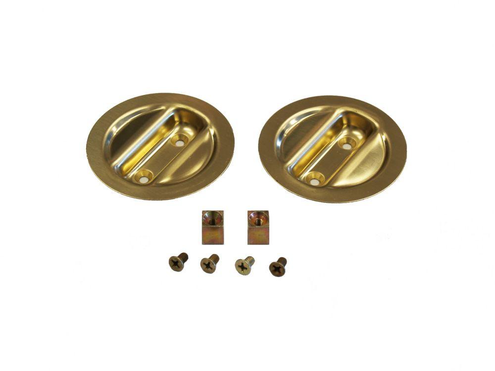 Bright Brass Pocket Door Pull Handle