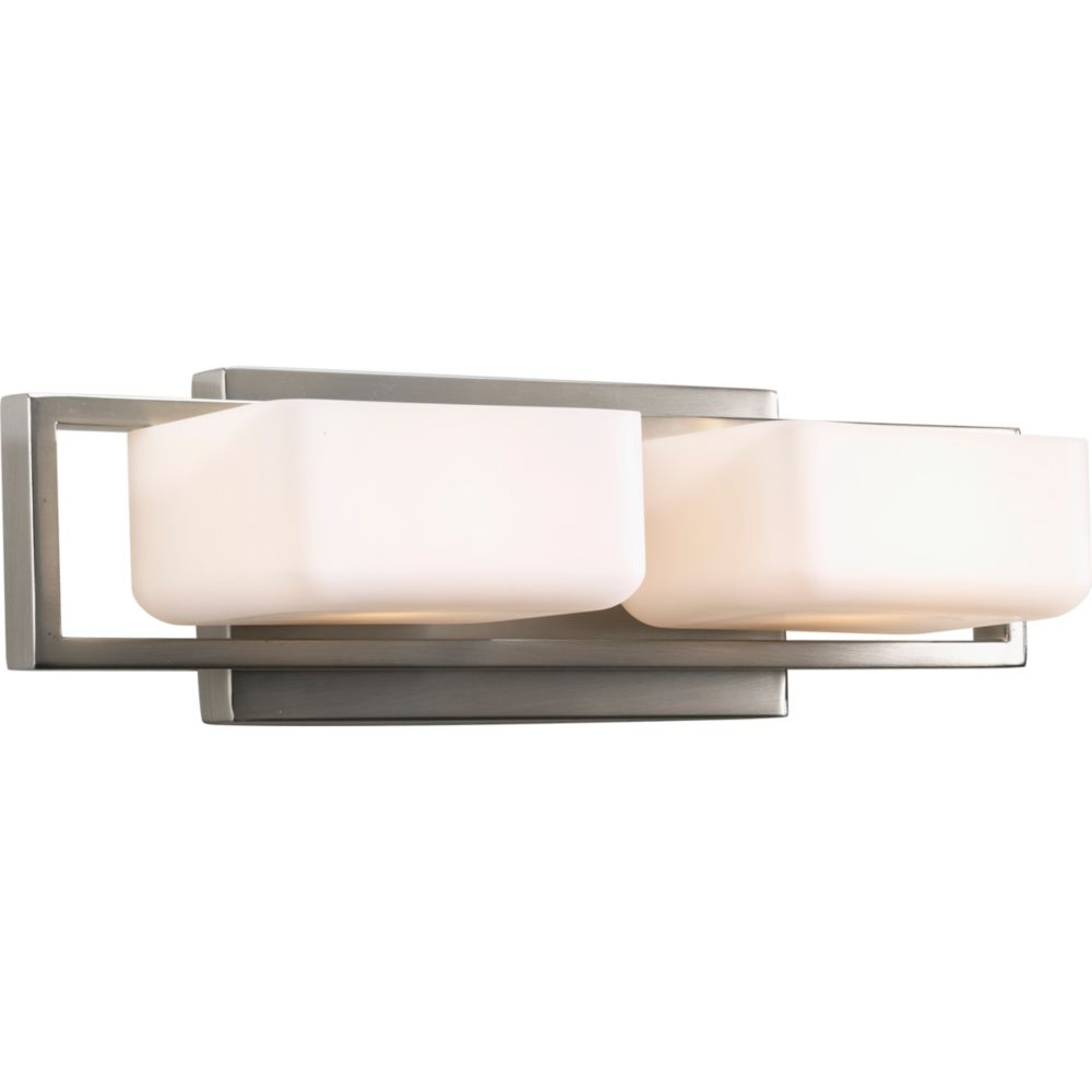 Dibs Collection 2-light Brushed Nickel Bath Light