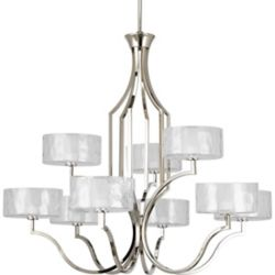 Progress Lighting Caress Collection Polished Nickel 9-light Chandelier