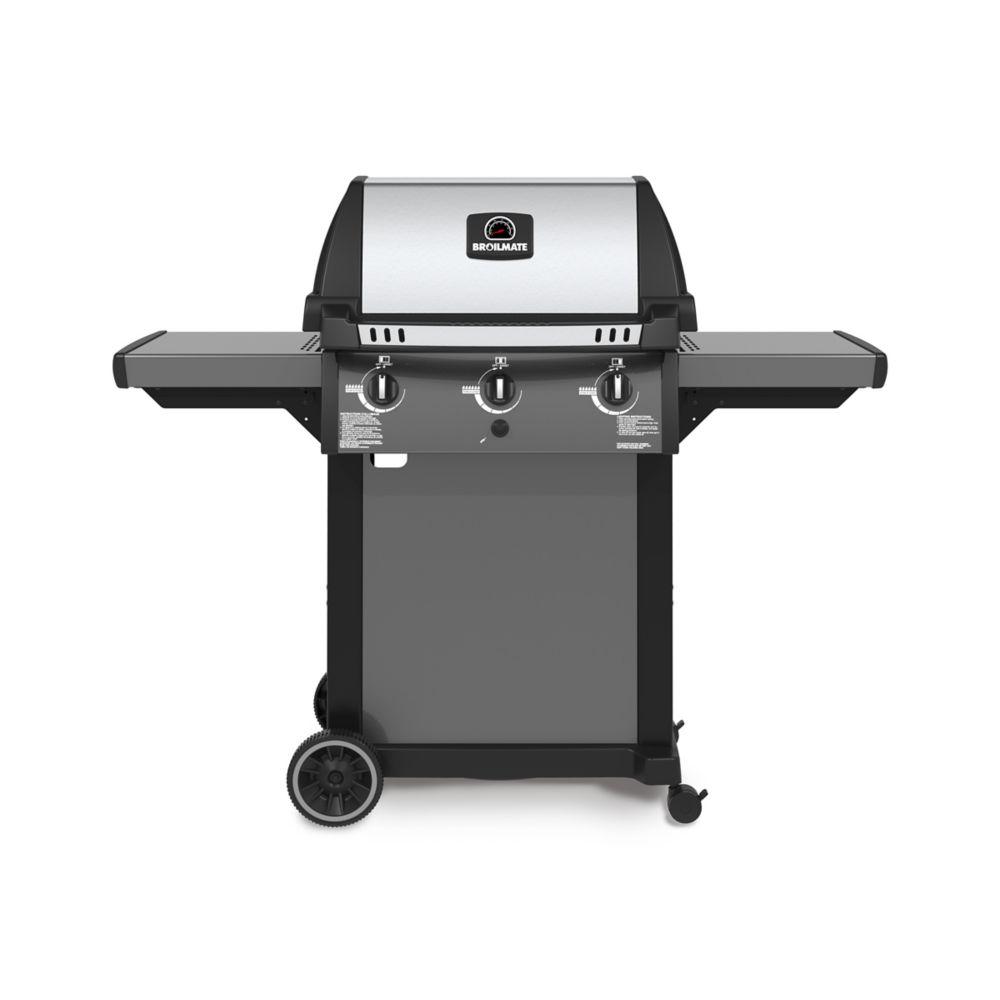 3-Burner Cast Aluminum Pedestal Propane Gas BBQ