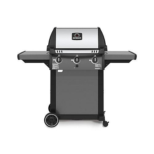 3-Burner Pedestal Propane BBQ in Cast Aluminum