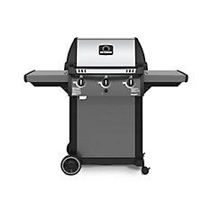 Barbecue au propane à base sur pied avec 3 brûleurs, fonte aluminium