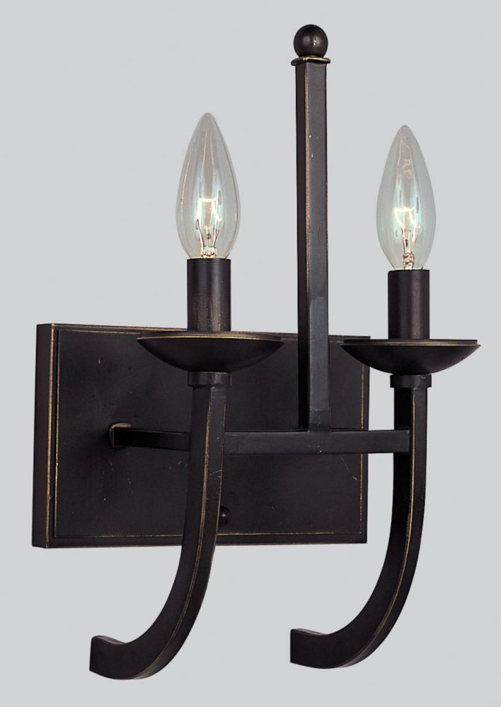 7-3/4 Inch Wall Sconce, Weathered Bronze Finish WB960WB in Canada