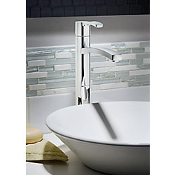 American Standard Perth Single Hole 1-Handle High Arc Bathroom Faucet in Brushed Nickel with Lever Handle