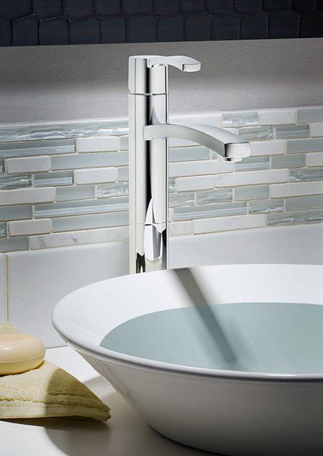 Perth Monoblock Bathroom Faucet in Polished Chrome Finish