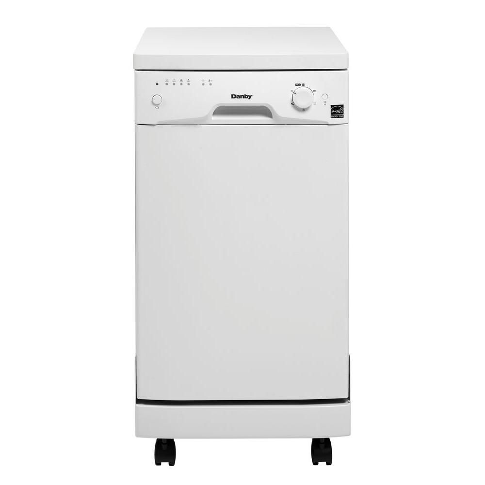 Danby 18-inch Portable Dishwasher in White