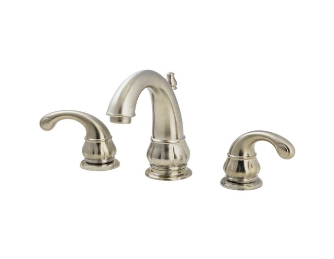 Pfister treviso 2 handle 8 inch widespread bathroom faucet for 8 bathroom faucet in brushed nickel
