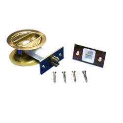 Alexandria Moulding 1 3/8-inch Brass Pocket Door Lock