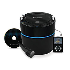EAKAR300 Karaoke CD+G Player Speaker System with MP3 and 2 Microphone Inputs