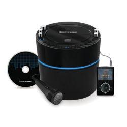 Electrohome EAKAR300 Lecteur karaoké avec système de haut-parleurs, entrée MP3 et 2 entrées pour microphones
