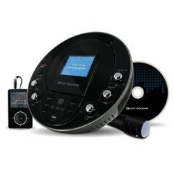 Electrohome Lecteur CD+G/MP3G karaoké portable avec système de haut-parleurs, écran 3,5po, USB et entrée MP3