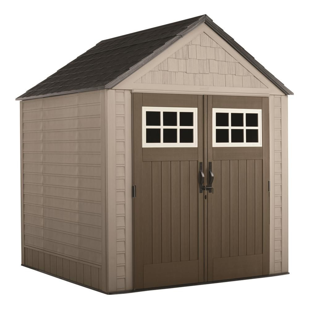Rubbermaid rubbermaid big max shed 7 ft x7 ft the for Outdoor tool shed