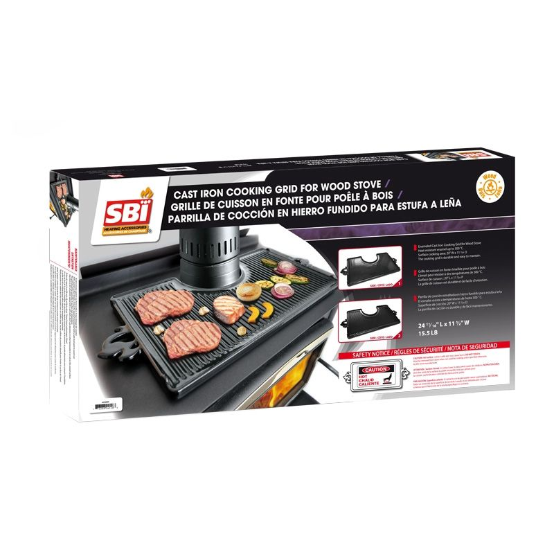 Cast Iron Cooking Griddle For Wood Stove