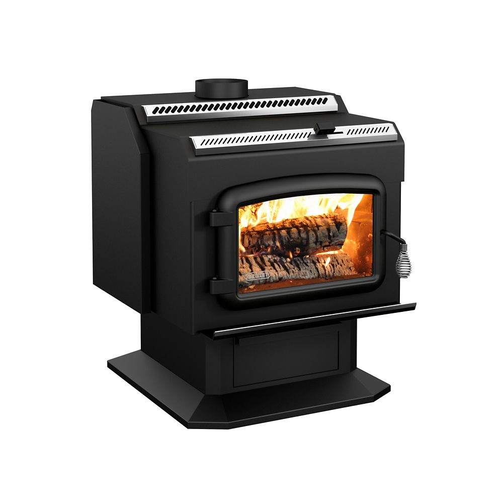 Drolet ht2000 extra large epa wood stove the home depot for Small efficient wood stoves