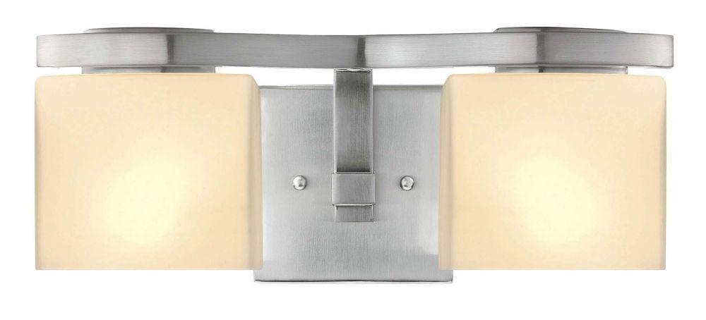 Belmore vanité de nickel brossé luminaire - 2 lumière
