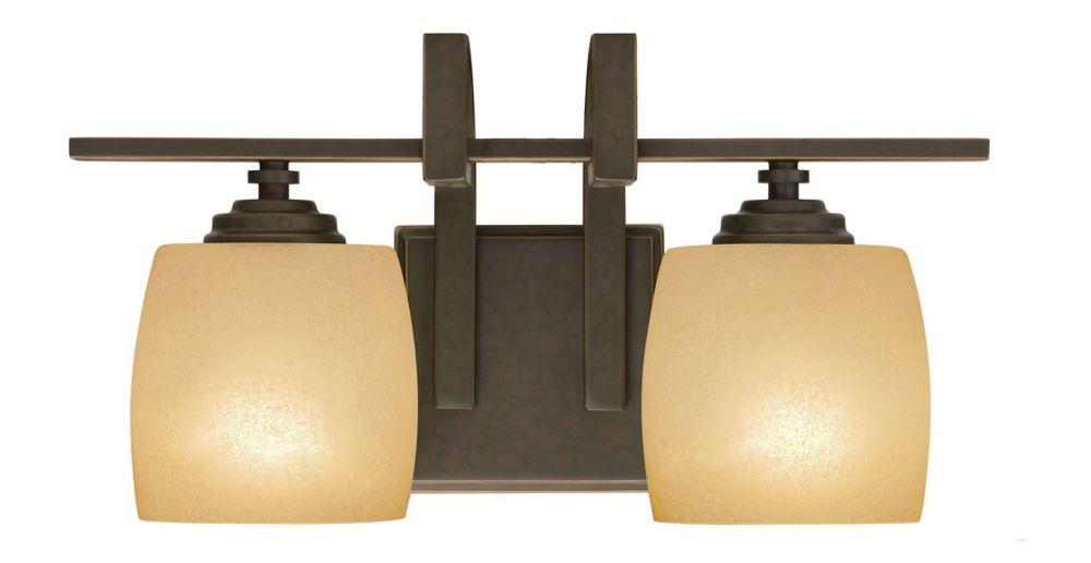 Clarkson vanité de bronze antique luminaire - 2 lumière