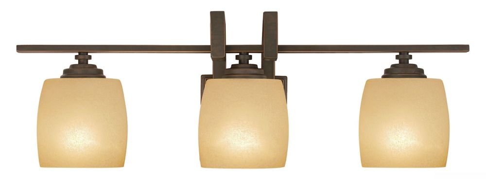 Clarkson Antique Bronze Vanity Fixture - 3 Light