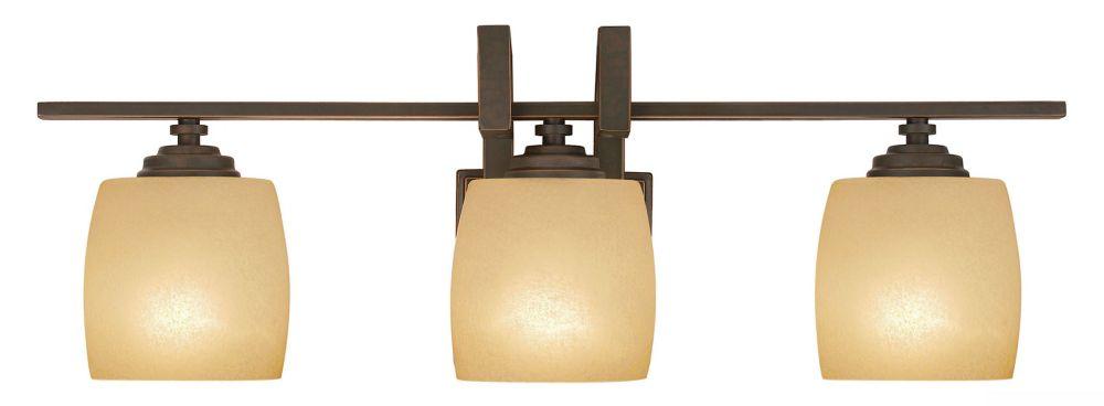 Clarkson Antique Bronze Vanity Fixture - 3 Light