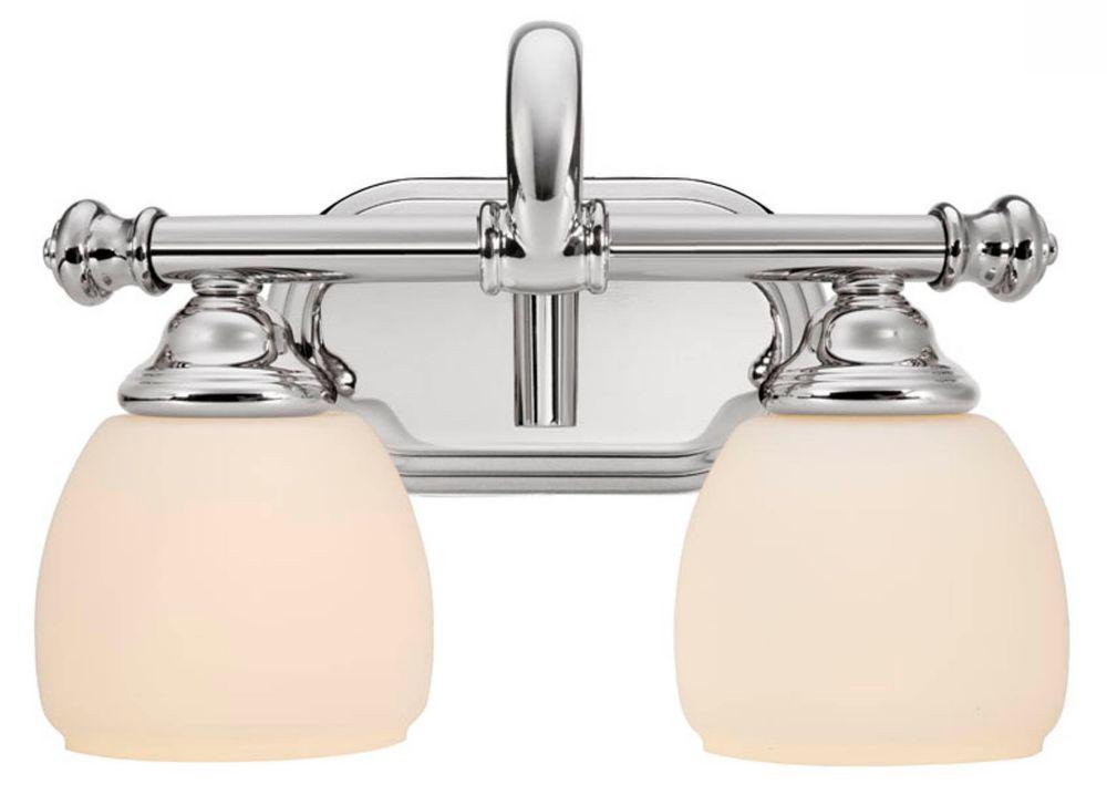 Lockingwood Polished Nickel Vanity Fixture - 2 Light