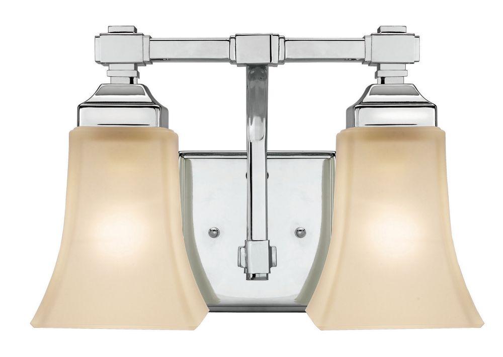 Mattice Chrome Vanity Fixture - 2 Light