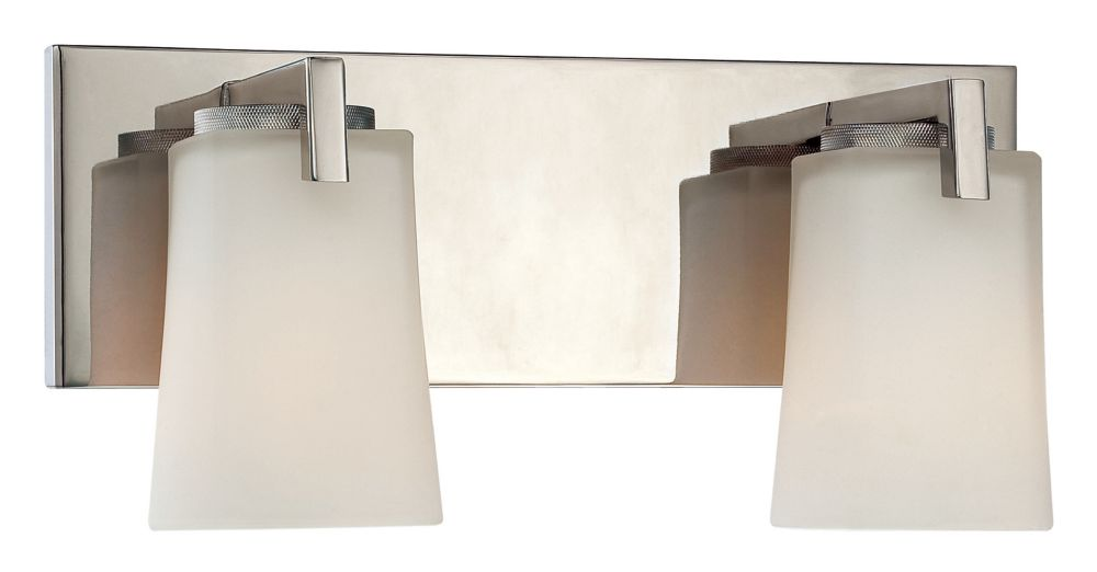 Wellman vanité de poli nickel luminaire - 2 lumière